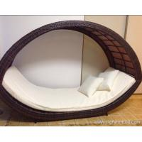China Removable Canopy Sofa Rattan Outdoor Furnitures / Garden Lounge Rattan on sale