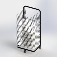 ISO Art Drying Metal Tubular Office Display Racks Wire Shelves A3 Size Manufactures