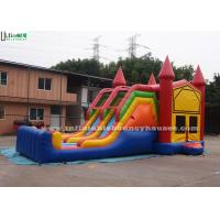 4 In 1 Amusement Park Inflatable Bounce Houses Rentals EN14960 Approvals