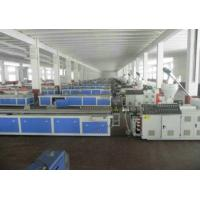 China WPC PVC Skirting Board Production Line , Double Screw Extruder on sale