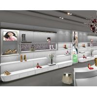 China Lady'S Wall Mounted Shoe DisplayUnit Shoe Rack For Showroom Knocked Down Design on sale