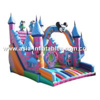 Hot Sale Inflatable Mickey Mouse Slide With Castle For Children Park Manufactures
