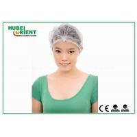 Customized Disposable Head Cap /  Female Surgical Caps For Beauty / Food Industry Manufactures