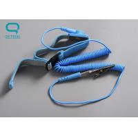 ESD Fabric Wrist Strap Adjustable Clean Room Accessories With Conductive Nylon Thread Manufactures