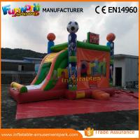 China Commercial PVC Football Inflatable Bouncer Slide , toddler bounce house on sale