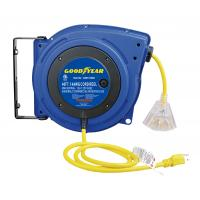 China LED Lighted Connector Goodyear Retractable Air Hose Reel With Double Adjustment Function on sale