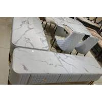 Non Fading Faux Marble Coffee Table Strong Hardness Modern Style Manufactures