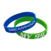 Custom Ink - Filled Silicone Bracelets Sport Event Rubber Wristbands Manufactures
