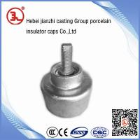 China ductile iron bottom line post porcelain insulator on sale