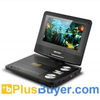 China 7 Inch Swivel Screen Portable DVD Player (CD Copy, Analog TV, AV In & Out) on sale
