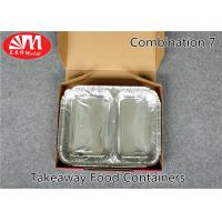 Food Grade Aluminum Foil Take Out Containers 2 Compartments Combination 7 Healthy Diet Manufactures