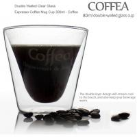 Double Walled Clear Glass Expresso Coffee Mug Cup 300ml - Coffea Manufactures