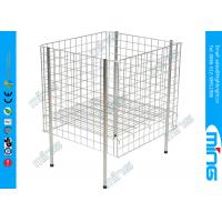 China Customized Grocery Store Square Wire Mesh Bins in Heavy Duty on sale