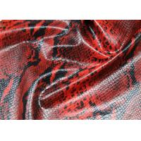 Red Snake Skin Printed PU Artificial Leather , 0.4 Mm Thickness Premium PU Leather Manufactures