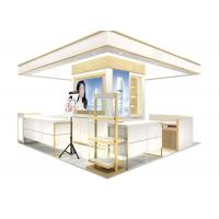 Quality Easy Install Wooden Cosmetic Display Case With Multi Color LED Lighting for sale