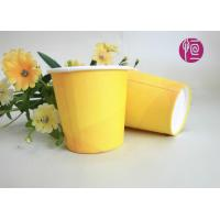 2.5oz Promotion Single Wall Paper Cups , Yellow Disposable Paper Cups With Lids Manufactures
