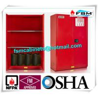 Safety Combustible Storage Cabinets , Flammable Storage Containers Double Doors Manufactures