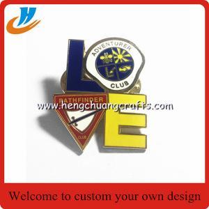 Resin coating soft enamel custom lapel pin no minimum lapel pin with logo butterfly clutch lapel pin Manufactures