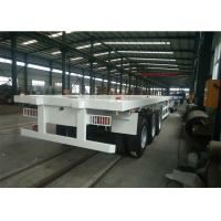 60T 3 Axles 28T Legs Heavy Duty Truck Trailer With 12.00R20 Tyres Manufactures