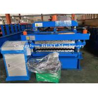 China Corrugated Double Layer Roofing Tile Roll Forming Machine PLC Control on sale