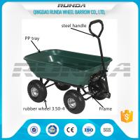Outdoor Dumper 4 Wheel Garden Cart Trolley Plastic Side Panels TC2145 For Farmer Manufactures