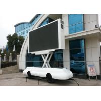 P5 P6 LED Billboard Truck Road Show Mini Trailer With Lifting LED Screen Manufactures