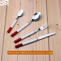 Cute Child Dinner Spoon Knife Fork Plastic Handle Cutlery Set Manufactures