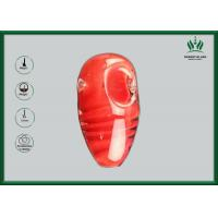Red Amber Glass Smoking Tubes , Silicone Spoon Tobacco Tube Glass GP-070 Manufactures