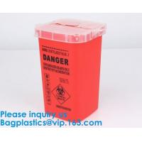 Biohazard Plastic Sharps Container,Hospital Biohazard Medical Needle Disposable Plastic Safety Sharps Container Manufactures
