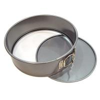 Tart Quiche Cheese Cake Pan / Springform Baking Pan With Silver And Black Color Manufactures