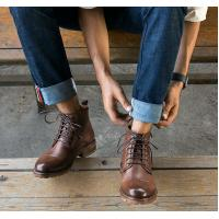 Buy cheap Round Toe Elevator Men Shoes Breathable Genuine Leather Casual Shoes For Winter from wholesalers