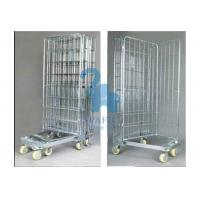 Galvanized Wire Mesh Security Cage , Turn Over Type Rolling Security Cage