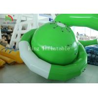 Green / White UFO Shape PVC Tarpaulin Inflatable Floating Saturn Water Toy For Climbing Manufactures