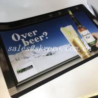 ROHS Standard Neoprene Fabric Roll Bar Mats 3D Logo Custom Printing for sale