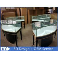 Modern Matte Black Curve Shape Jewelry Display Cases With Led Lights Manufactures
