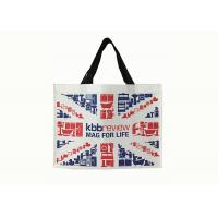 Large Laminated Custom Non Woven Tote Bags Recycle For Shopping / Travel Manufactures