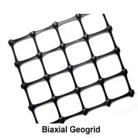 Black Soil Grid Pp Biaxial Geogrid / 40kn Geogrid For Road Construction Manufactures