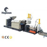 China Single Screw Plastic Recycling Machine Granulating 90kw Force Feeder Optional on sale