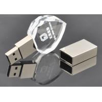 Custom Printed USB Flash Drive Storage Crystal Clear Transparent Heart Style Manufactures