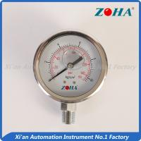 China Low Pressure Glycerin Pressure Gauge / Stainless Silicone Filled Pressure Gauge on sale