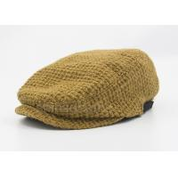 Brown Peaked Duck Bill Knitting Wool Hat Winter For Lady , Cotton Lining Manufactures