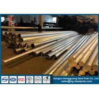 Quality Hot Roll Steel Sheet Metal Fabrication Electric Power Pole Overlap / Flange Connection for sale