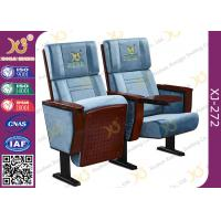 Plain Split Type Back Rest Auditorium Chair With Sewing Logos / Movie Theater Seats Manufactures