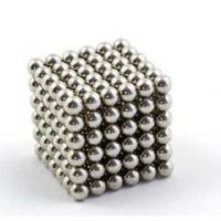 Silver Color Coating Sintered Neodymium Magnets , Sphere Magnetic Buckyballs Manufactures