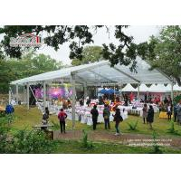 China Custom Big Outdoor Event Tents White Party Tents With Tables Chairs Wedding Tent on sale