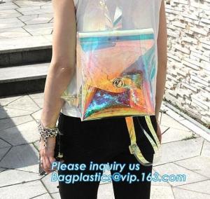 China neon genesis evangelion eva bag backpack, Neon Backpack, Vintage Neon Green Transparent PVC Mini Kids Backpack, wallet on sale