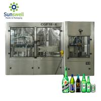 Can Beer Production Line Complete Automatic Rising Filling Screwing 3 In 1 Monoblock Manufactures