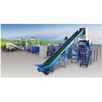 China Pp Pe Film PET Recycling Line Saving Water , Plastic Washing And Drying Machine on sale