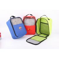 600D Polyester Shoes Bag With Mesh In Front Manufactures