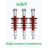 10kV Small High Tension Insulators , Overhead Transmission Power Line Insulators Manufactures